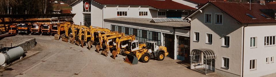 Firmengelände Mader Bau GmbH in Bischofsmais